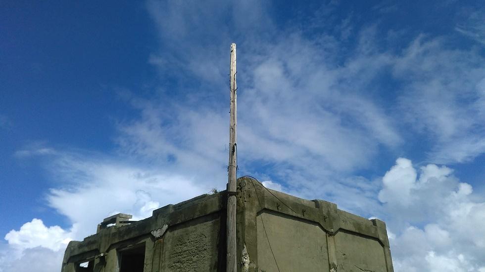軍艦島の電柱