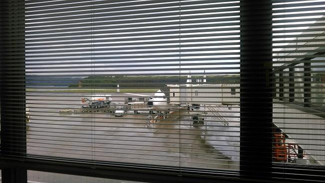 長崎空港帰り飛行機